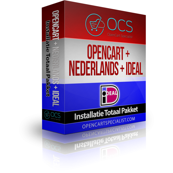 OpenCart 2.3 + Nederlands + iDEAL - Totaal Pakket
